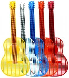 Vliegenmepper in de vorm van een gitaar