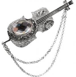 Broche met zilveren viool