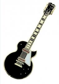 Speldje Les Paul Custom elektrische gitaar