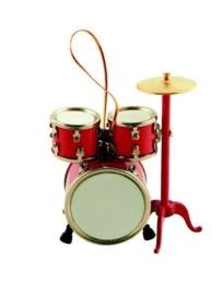 Kerstversiering drumstel (rood)