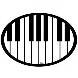 Automagneet met pianotoetsen