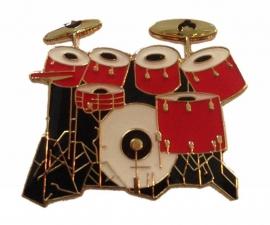 Speldje drumstel rood/zwart