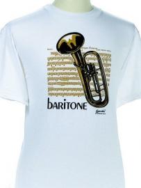 T-shirt met bariton en bladmuziek