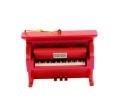 Kerstversiering klavier (rood) 9 cm
