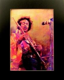 Popart poster van Jimi Hendrix
