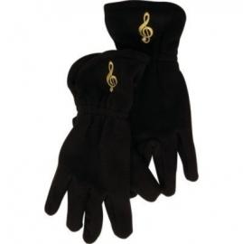Fleece handschoenen met vioolsleutel