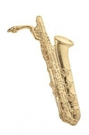 Speldje bariton saxofoon verguld