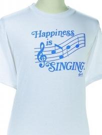 T-shirt met Happiness Is Singing