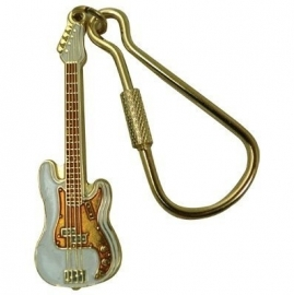 Sleutelhanger Fender Precision Bass basgitaar wit