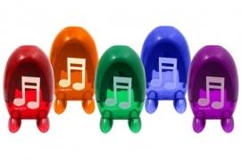 Puntenslijper met muzieknoten