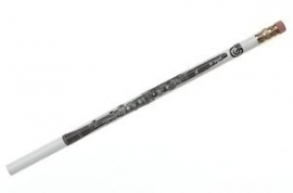Potlood met klarinet (wit)