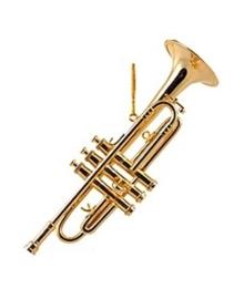 Kerstversiering trompet 13 cm
