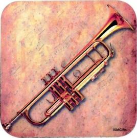 Onderzetter met trompet