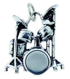 Hanger met zilveren drumstel