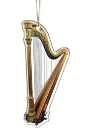 Kerstversiering harp 9,5 cm
