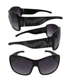 Stijlvolle zonnebril met muzieknoten