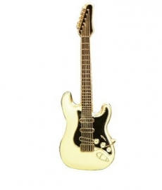Speldje gitaar Fender Stratocaster roomwit/zwart