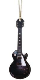 Kerstversiering LP Guitar (zwart) 12 cm