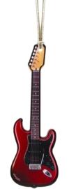 Kerstversiering elektrische gitaar (rood) 11,5 cm