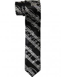 Zwarte stropdas met bladmuziek