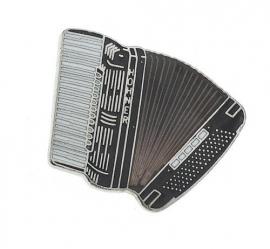 Speldje accordeon zwart