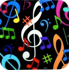 Onderzetter met muzieknoten