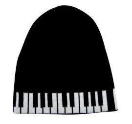 Beanie met pianotoetsen