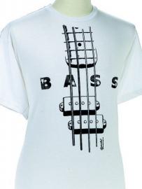 T-shirt met basgitaar
