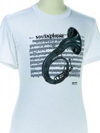 T-shirt met sousafoon