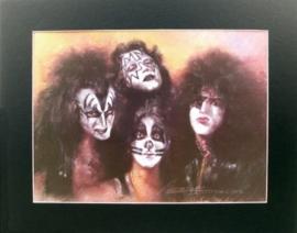 Popart poster van Kiss
