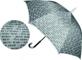 Grote paraplu met componisten