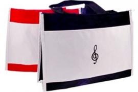 Nylon tas met geborduurde vioolsleutel