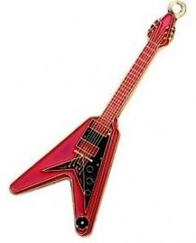 Sleutelhanger Flying 'V' gitaar rood