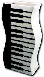 Vaas met pianotoetsen
