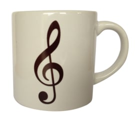 Koffiekopje met vioolsleutel