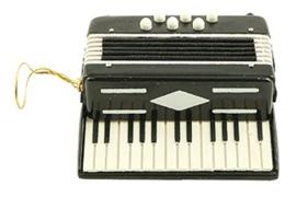 Kerstversiering accordeon (zwart) 7,5 cm