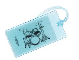 Kofferlabel met drumstel