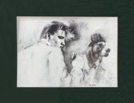 Popart poster 'Hound Dog' van Elvis Presley