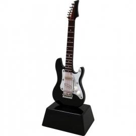 Miniatuur elektrische gitaar op standaard