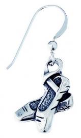Zilveren oorbellen met balletschoentjes