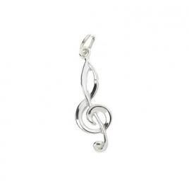 Hanger met zilveren vioolsleutel