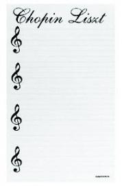 Schrijfblok 'Chopin Liszt'