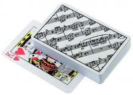Speelkaarten met bladmuziek