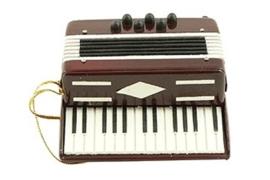 Kerstversiering accordeon (rood) 7,5 cm