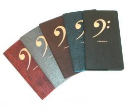 Handig notitieboekje met bassleutel