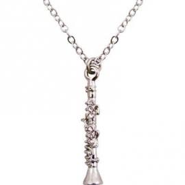 Ketting met zilveren klarinet