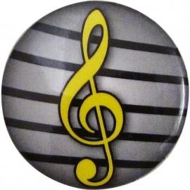 Button met vioolsleutel