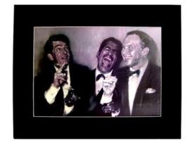 Popart poster van Rat Pack