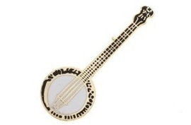 Speldje banjo goud
