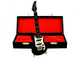 Miniatuur zwarte elektrische gitaar